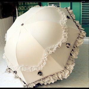 Elegant Creative Luxury Lace Black Umbrella
